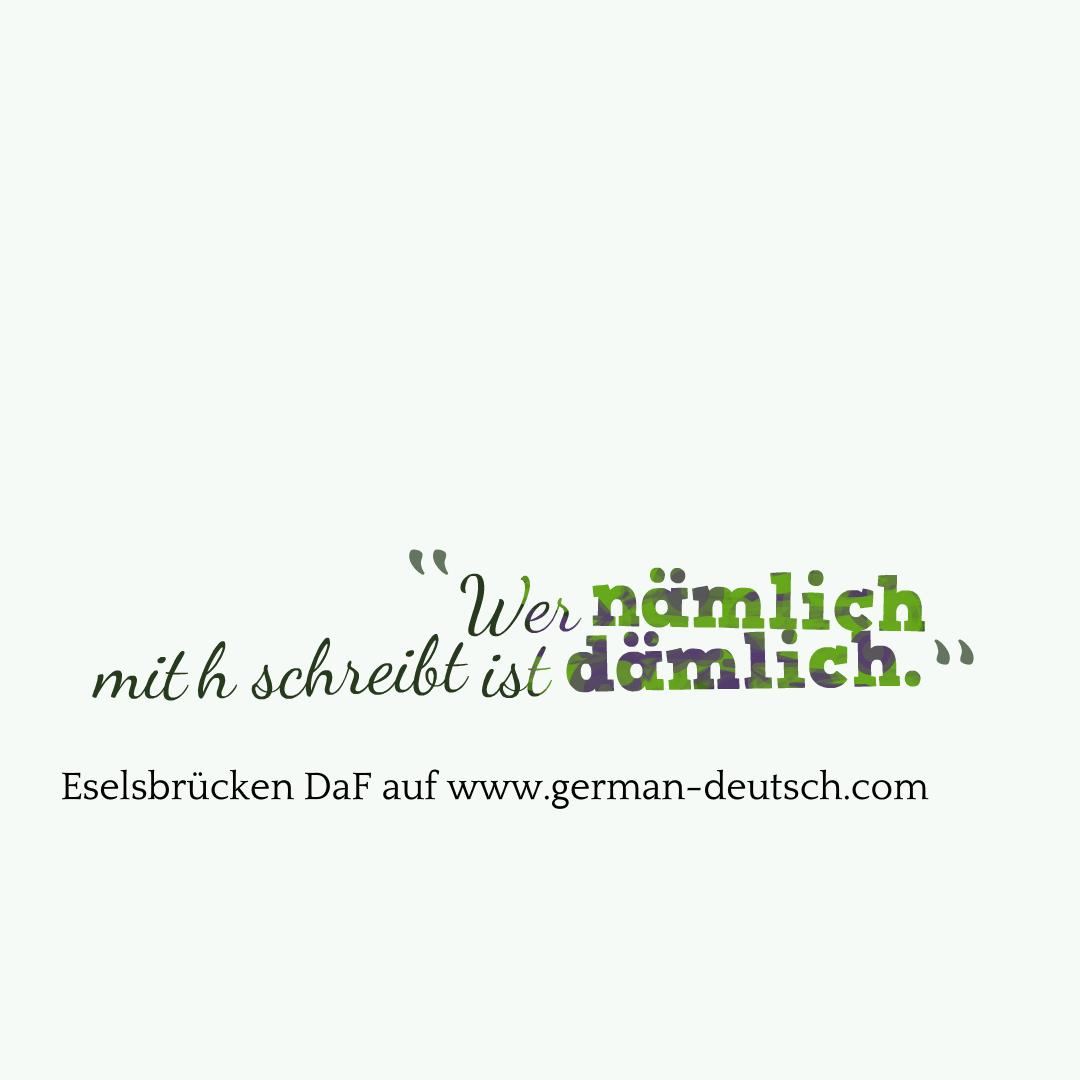 """Eselsbrücken (""""mnemonics"""") für ein besseres Deutsch"""