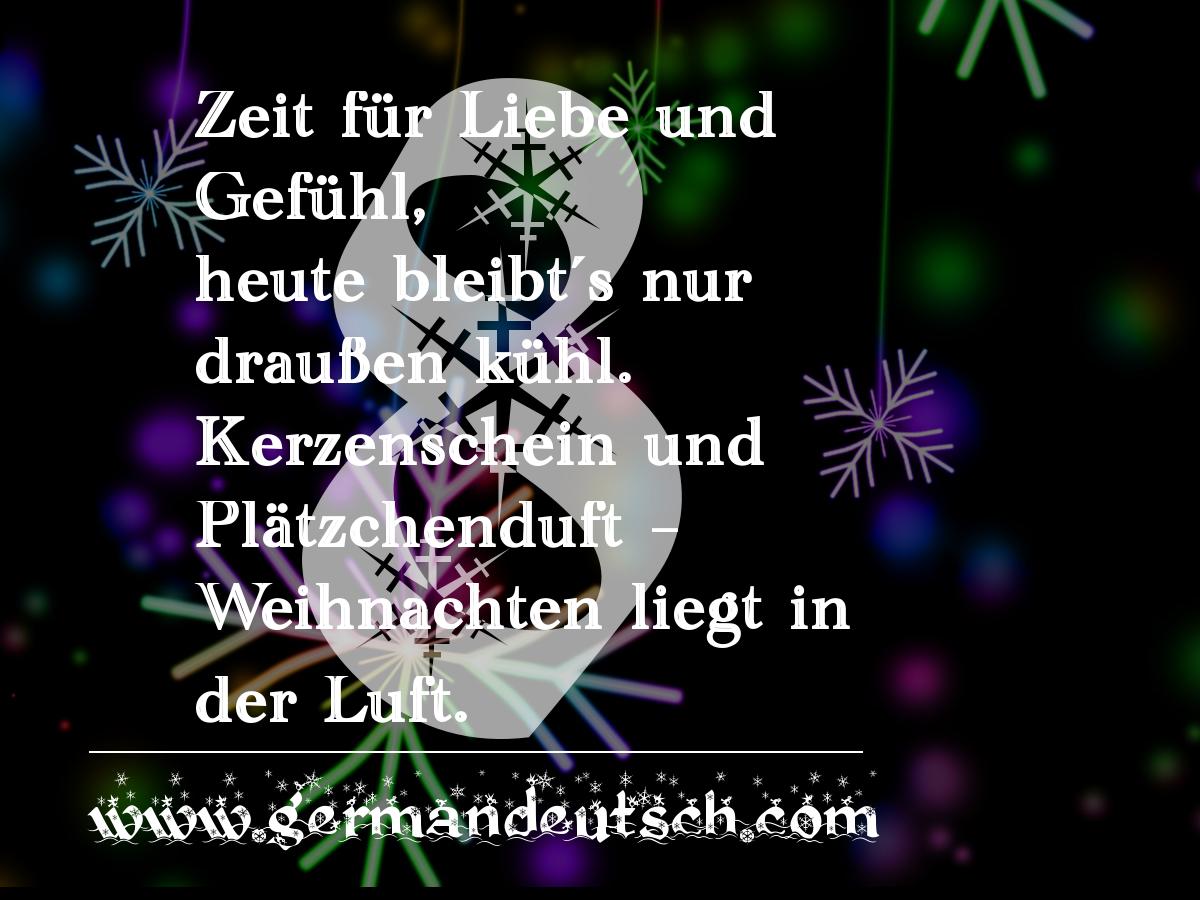 8. 12. – Adventskalender für den Deutschkurs