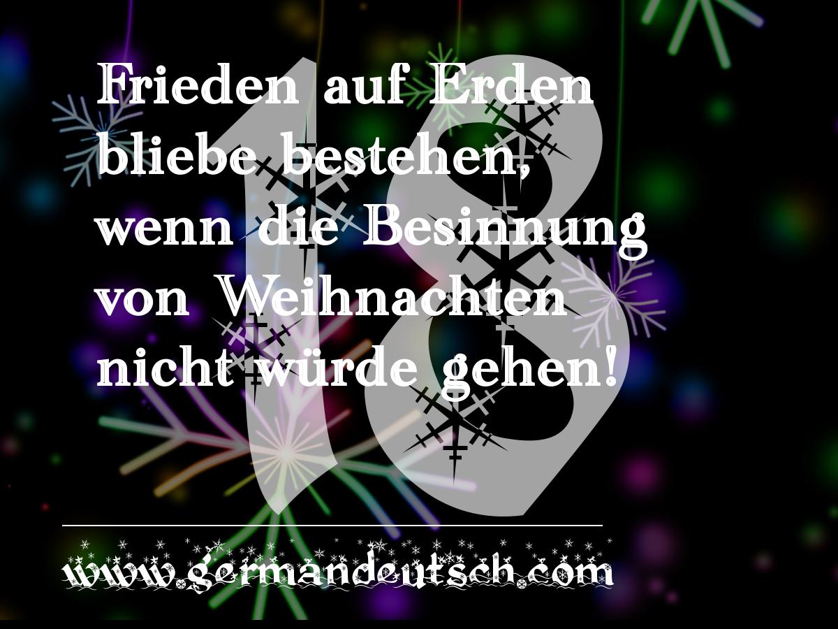 18. 12. 2016 – Adventskalender für den Deutschkurs