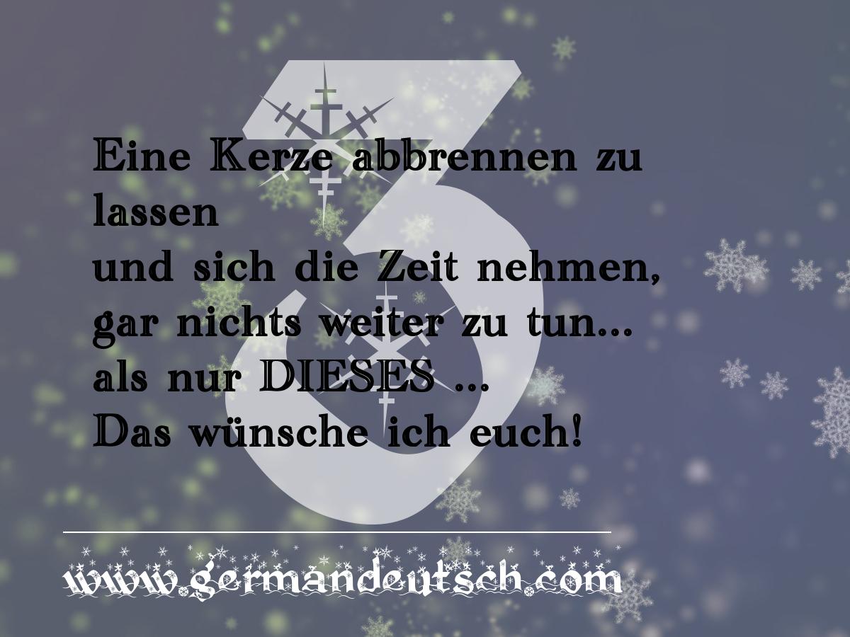 3. 12. – Adventskalender für den Deutschkurs