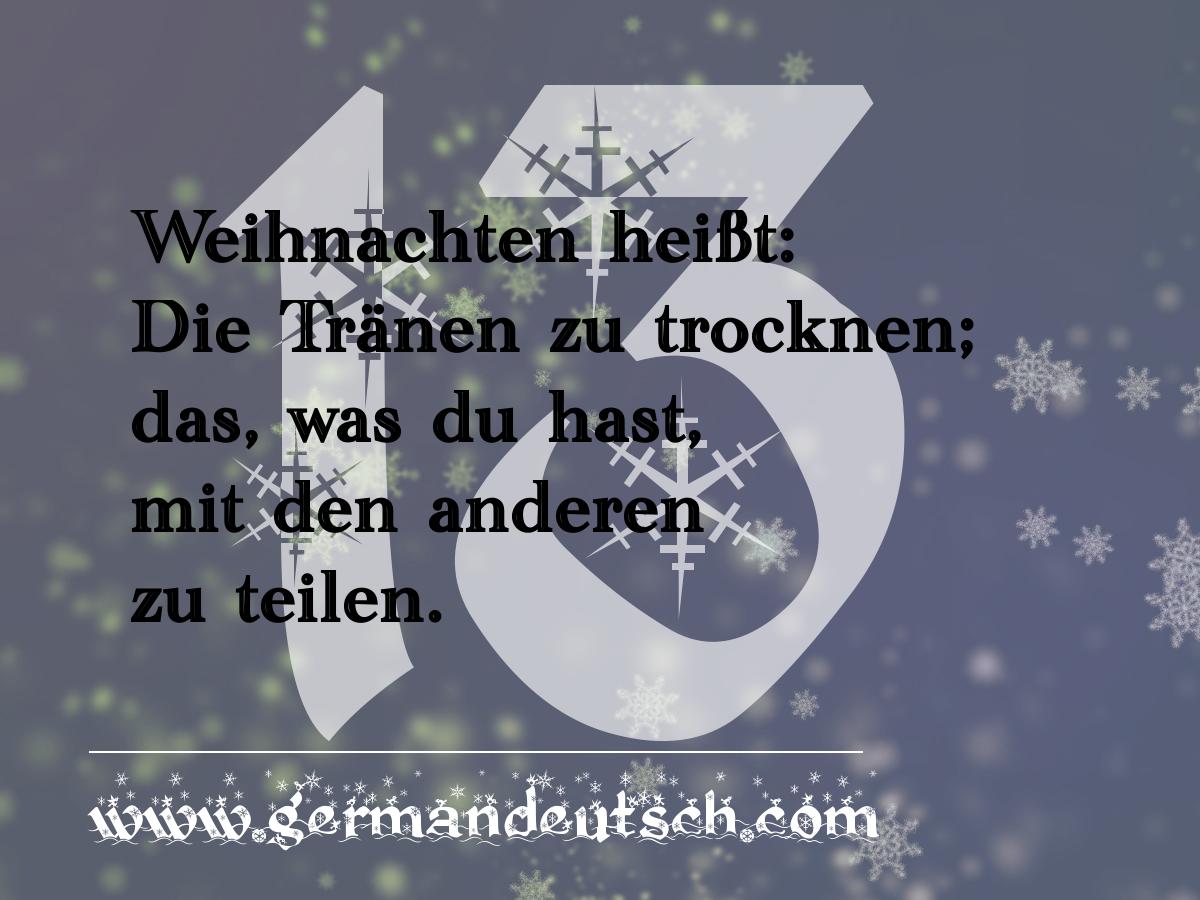 13. 12. – Adventskalender für den Deutschkurs
