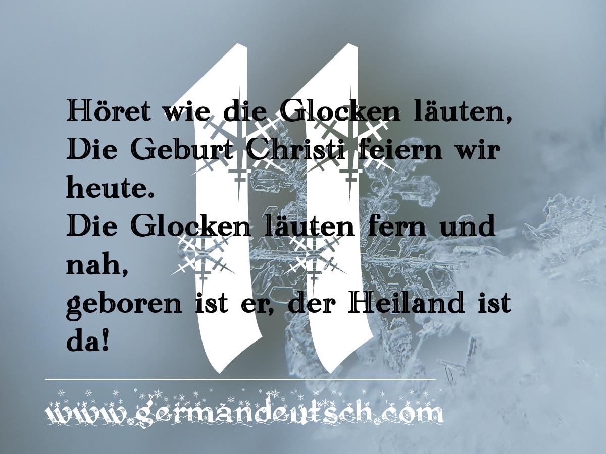 11. 12. 2016 – Adventskalender für den Deutschkurs