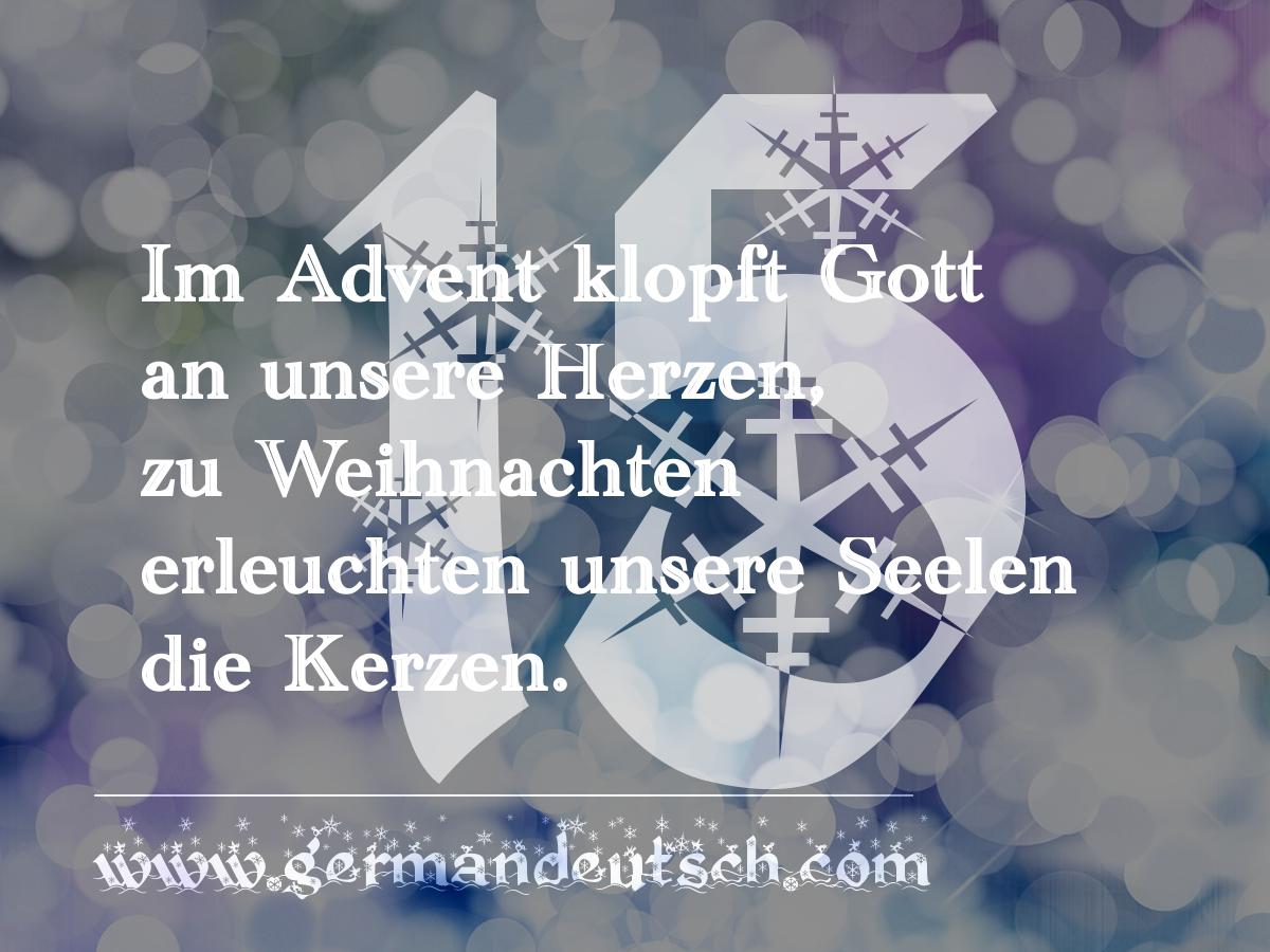 15. 12. – Adventskalender für den Deutschkurs