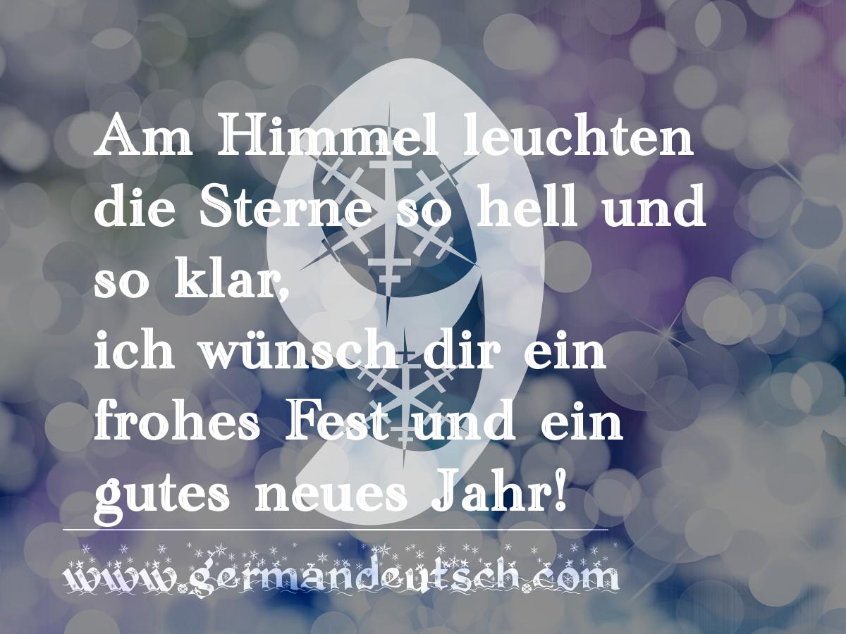 9. 12. – Adventskalender für den Deutschkurs