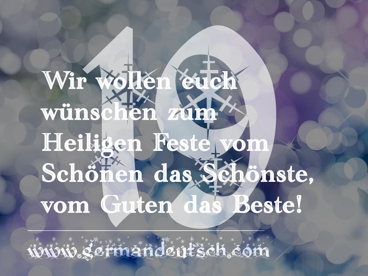19. 12. 2016 – Adventskalender für den Deutschkurs