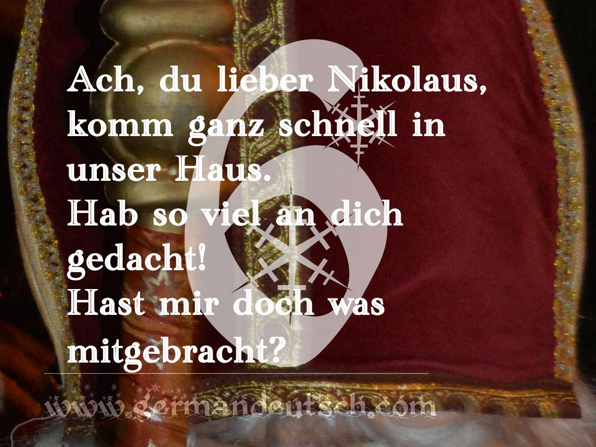 6. 12. – Adventskalender für den Deutschkurs