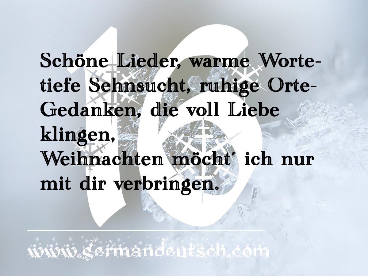 16. 12. 2016 – Adventskalender für den Deutschkurs