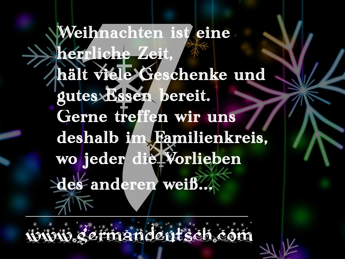 7. 12. – Adventskalender für den Deutschkurs
