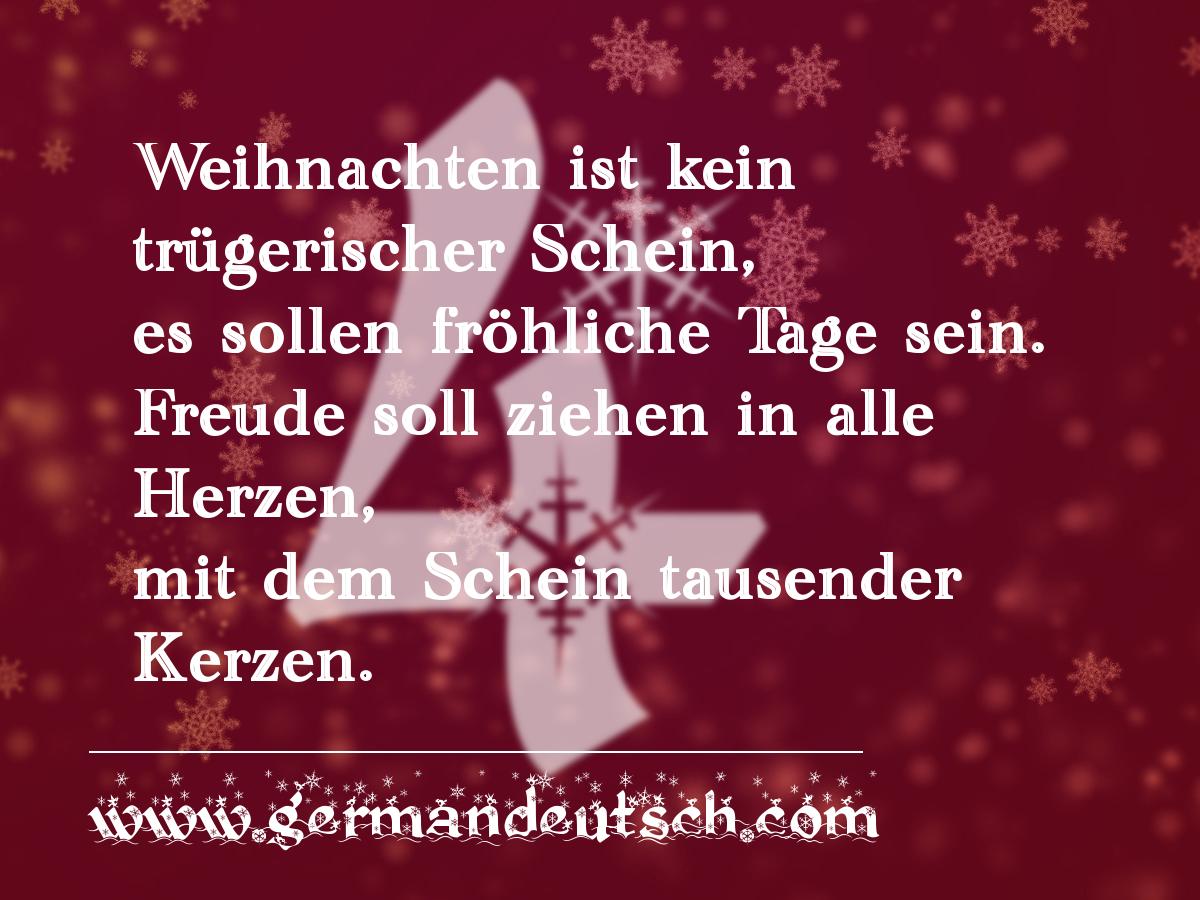 4. 12.  – Adventskalender für den Deutschkurs