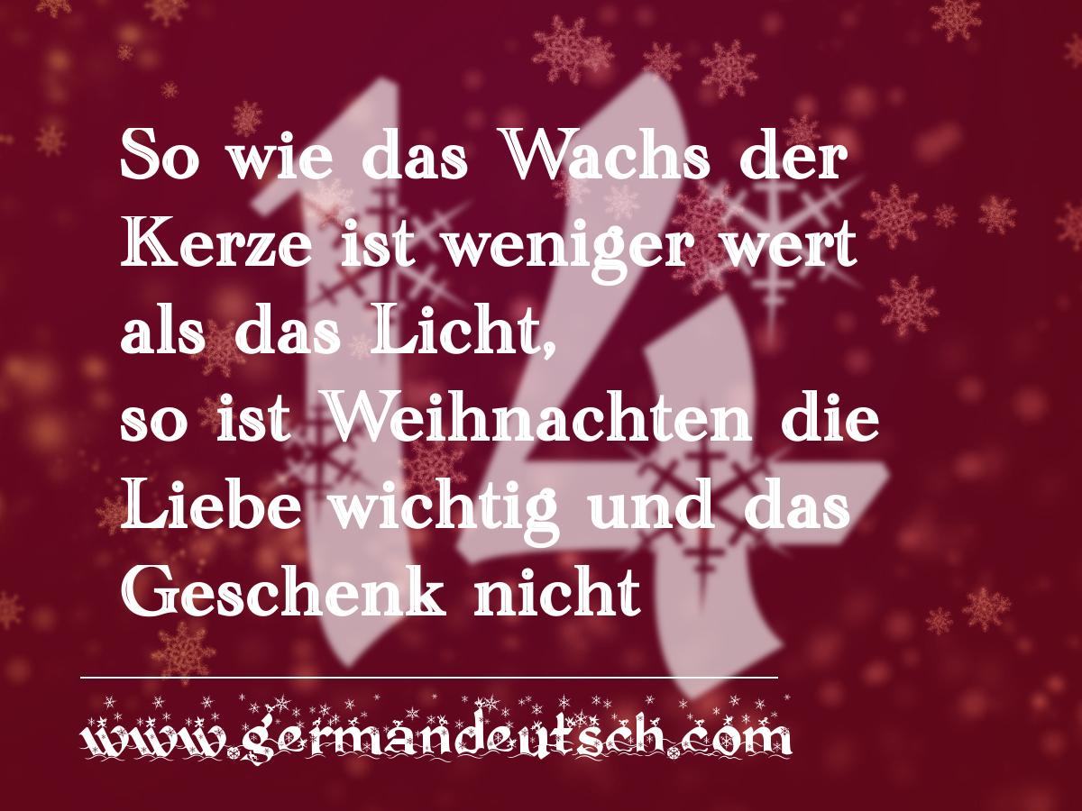 14. 12. – Adventskalender für den Deutschkurs