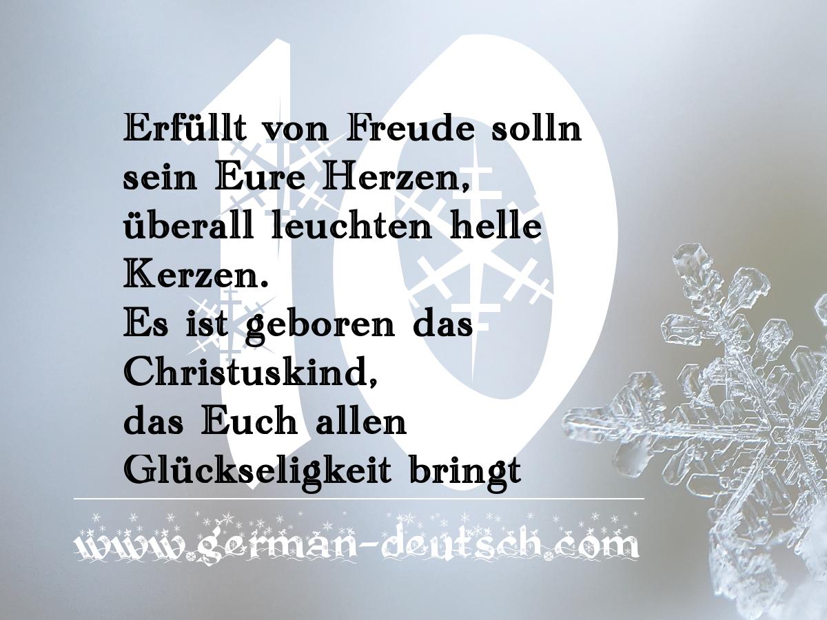 10. 12. 2016 – Adventskalender für den Deutschkurs