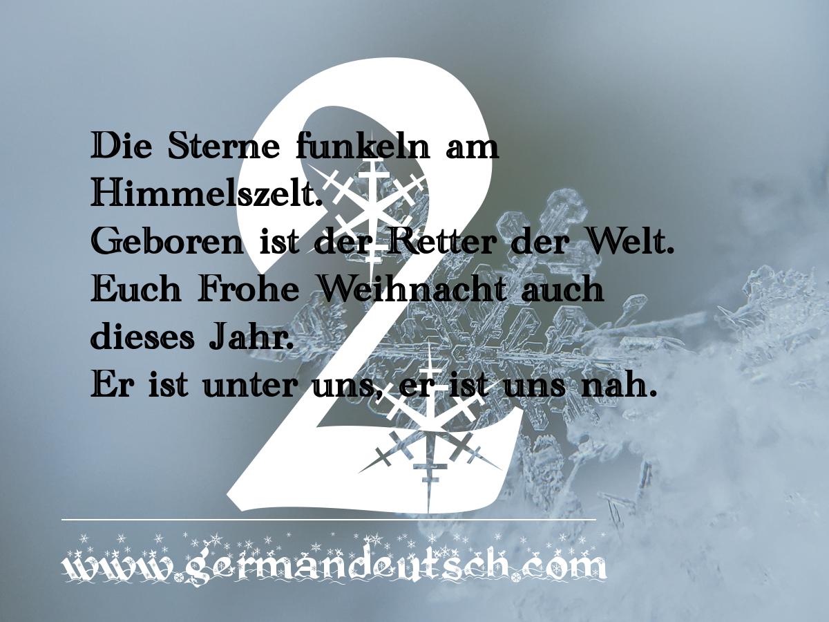 2. 12. – Adventskalender für den Deutschkurs