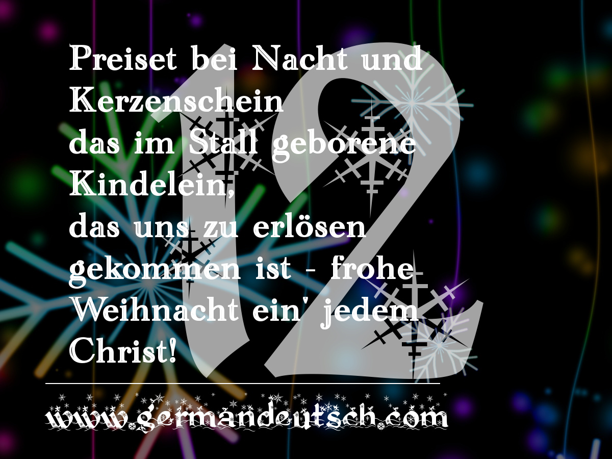 12. 12. 2016 – Adventskalender für den Deutschkurs