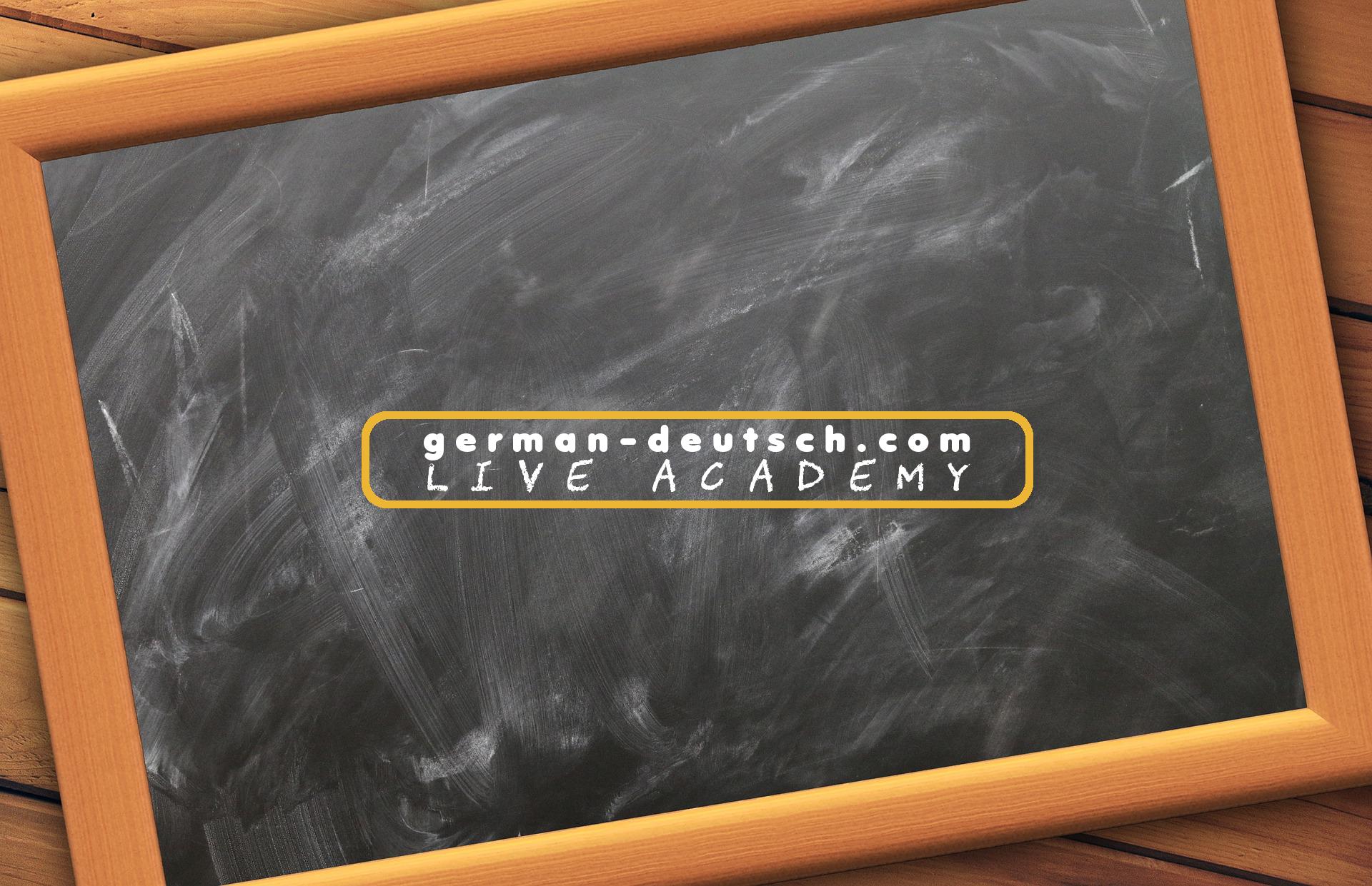 German-deutsch.com Live Academy: Gratis Deutschkurs live