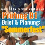 Gemeinsam etwas planen (Deutsch Prüfung B1 / Modul: Sprechen) - gelöst