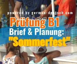 Gemeinsam etwas planen (Deutsch Prüfung B1 / Modul: Sprechen) – gelöst