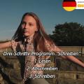 Deutsch schreiben lernen in 3 Schritten (A1, A2, B1, B2)