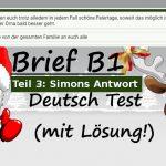Wie schreibe ich eine Einladung (Deutscher Brief - Test B1):