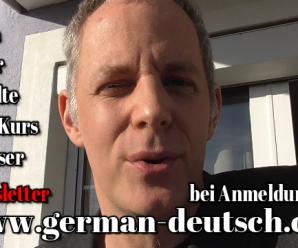 Gratis A1-Deutschkurs von german-deutsch.com im Livestream