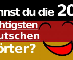 Top 200 wichtige deutsche Wörter mit englischer Übersetzung