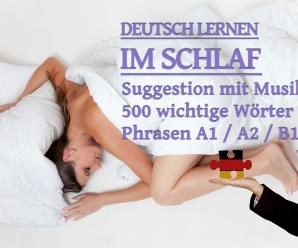 Deutsch lernen im Schlaf: Funktioniert das?