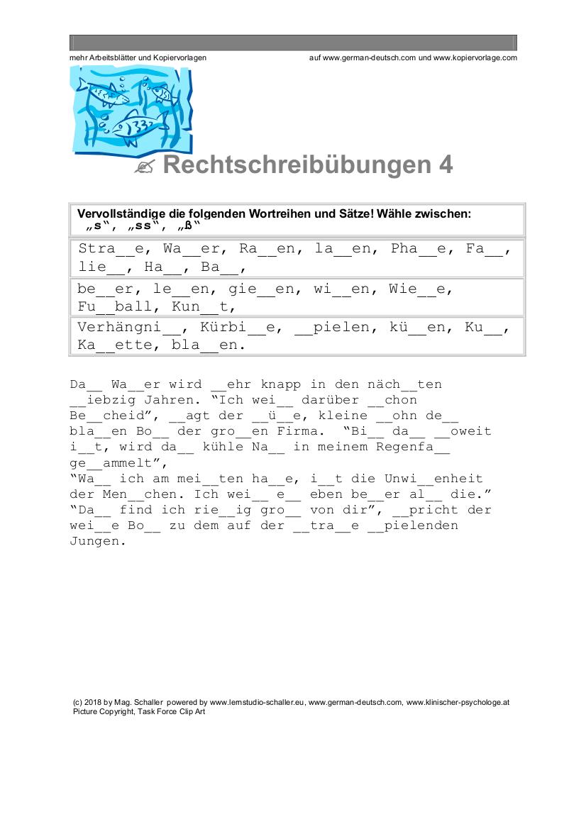Deutsche Rechtschreibung für die Deutschprüfung: Doppelkonsonanten ...