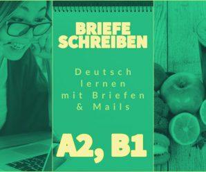 """Deutsch: Brief & E-Mail schreiben! Deutsch A2, B1 """"Anmeldung zu Kurs & Seminar: Vegetarisch Kochen"""""""