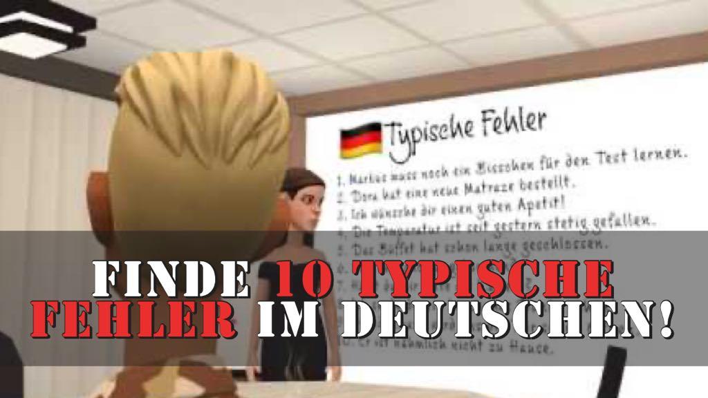 finde 10 fehler - deutsch