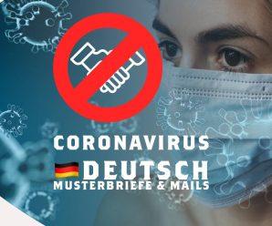 """""""Corona"""": Deutsche Briefe und Mails (Absagen, Entschuldigungen, Reklamationen – """"Musterbrief"""")"""