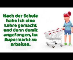 """Film Deutsch A1-B1 über Arbeit: """"Was bist du von Beruf?"""" – Dialoge zum Deutschlernen rund um Jobs."""